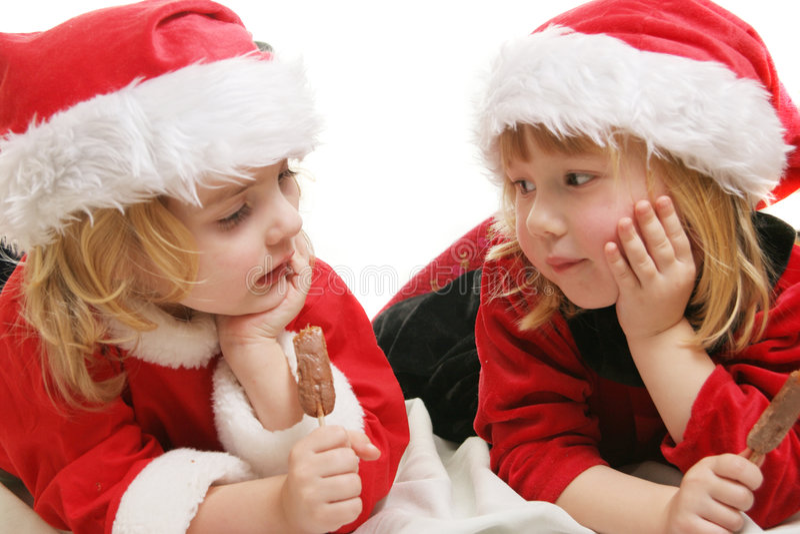 preschool santa хелперов стоковое фото