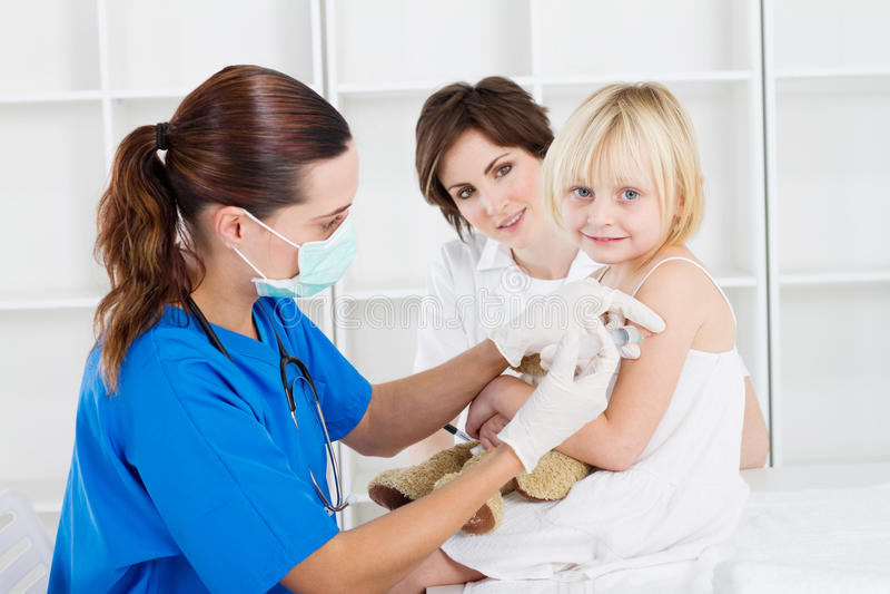 preschool szczepienie zdjęcia royalty free