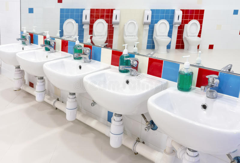 Preschool Washroom Stock Image Image Of Restroom Little 36342381