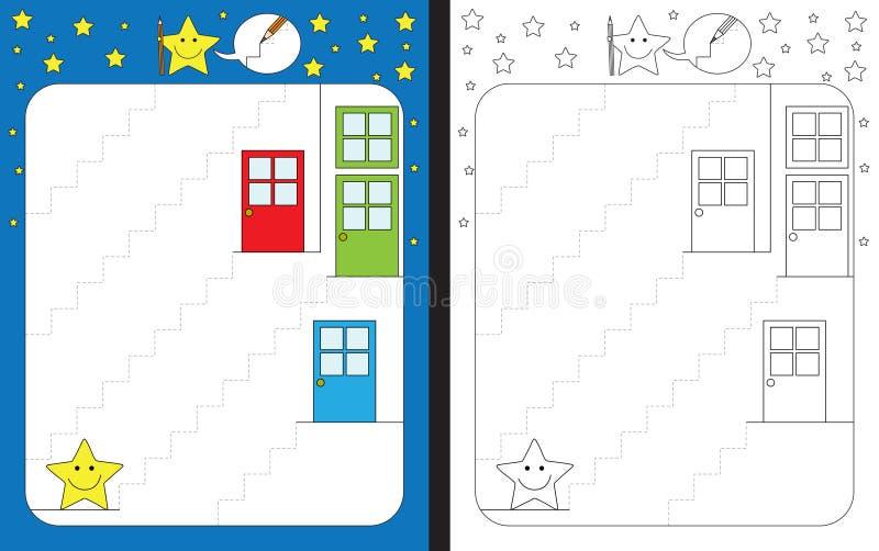 Preschool worksheet ilustracji