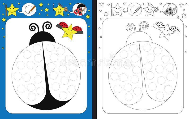 Preschool worksheet royalty ilustracja