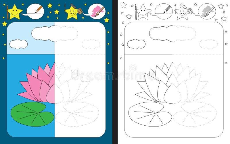 Preschool worksheet stock illustration