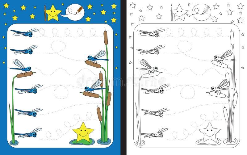 preschool worksheet practicing fine motor skills stock vector preschool best free printable. Black Bedroom Furniture Sets. Home Design Ideas