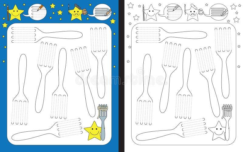 Preschool Worksheet Stock Vector Illustration Of Practice 115121329