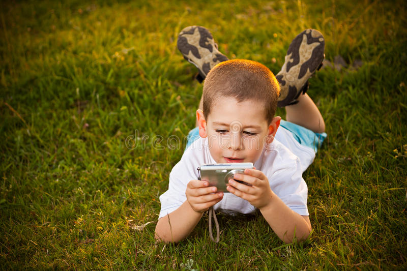 Download Preschooler boy stock image. Image of person, technology - 25389839