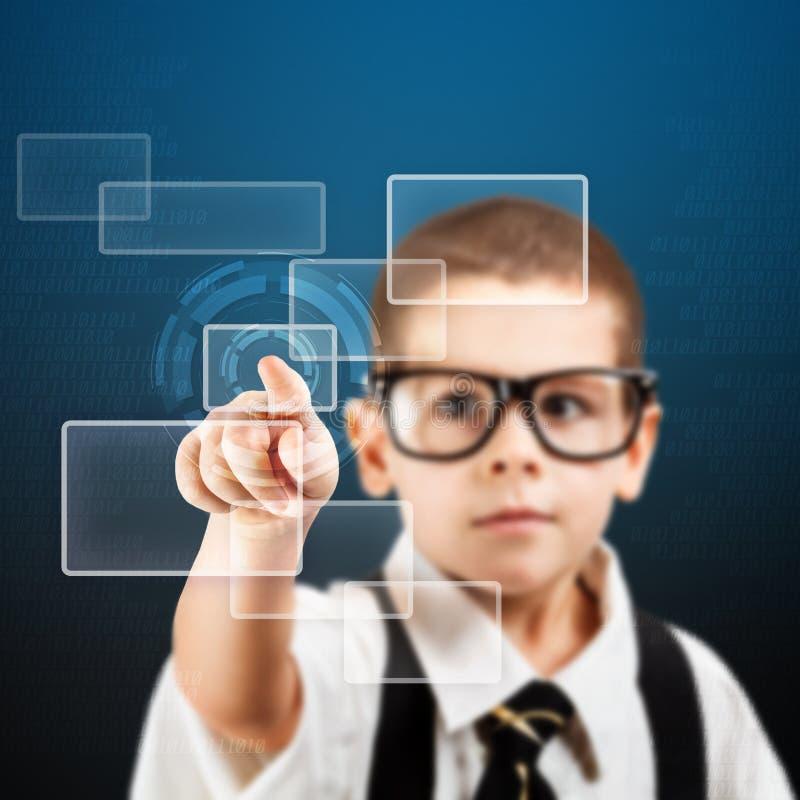 Download Preschooler boy stock illustration. Image of futuristic - 28804362