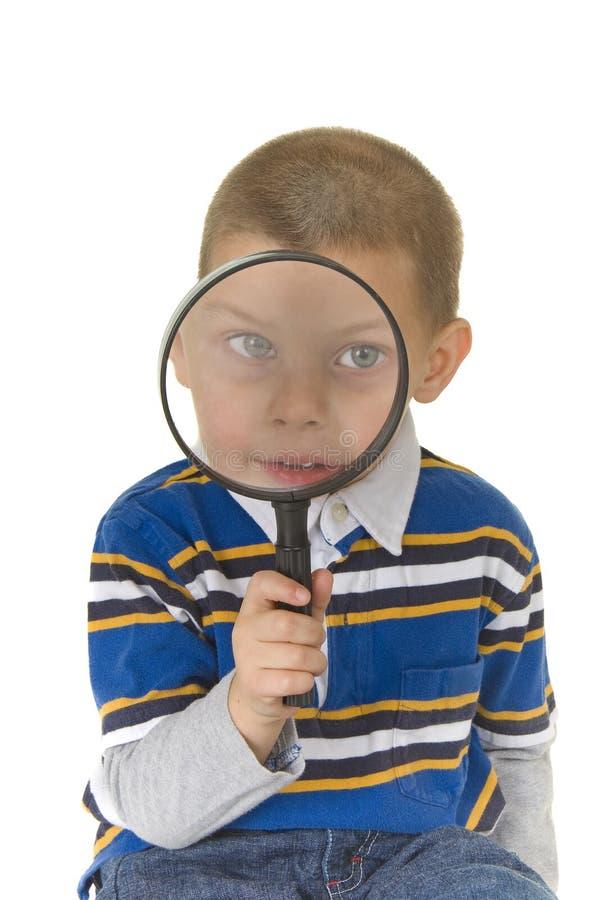 Preschooler curioso del buy sveglio fotografia stock