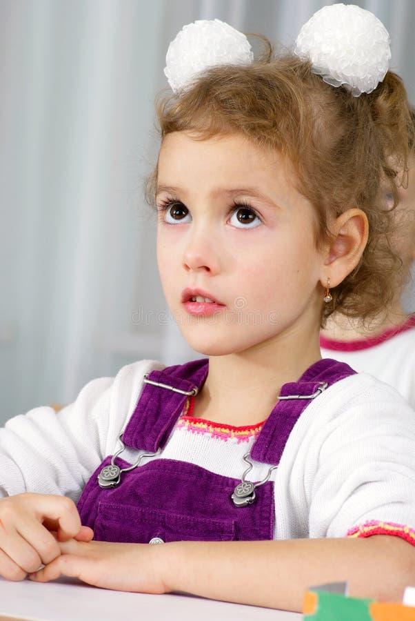 Download Preschooler girl stock image. Image of class, group, little - 18183427