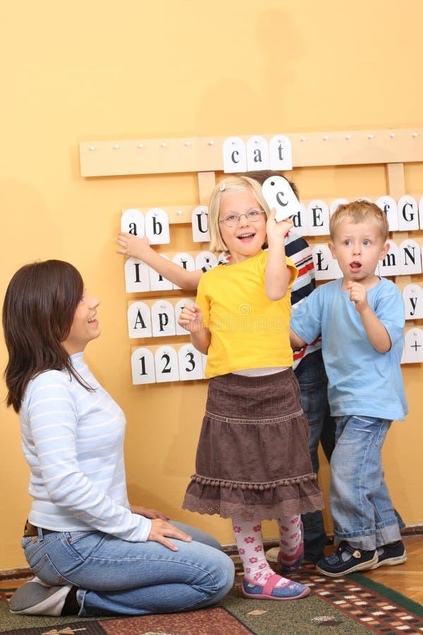preschoolers arkivfoton