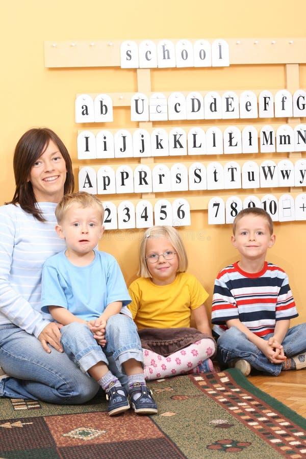 preschoolers arkivbild