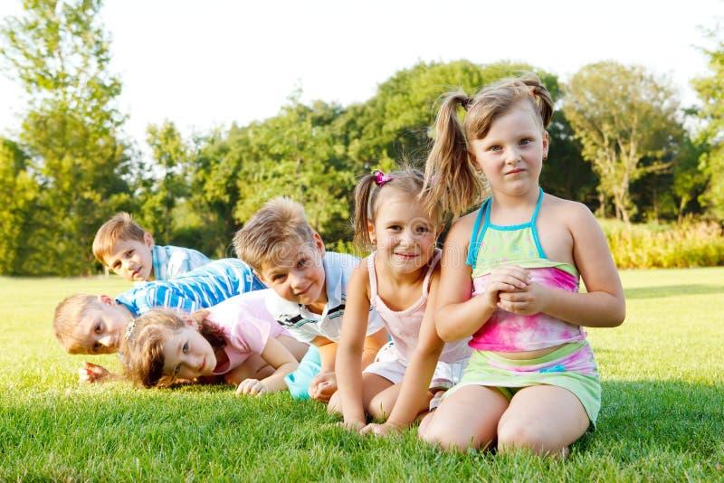 Preschoolers alegres fotos de stock royalty free