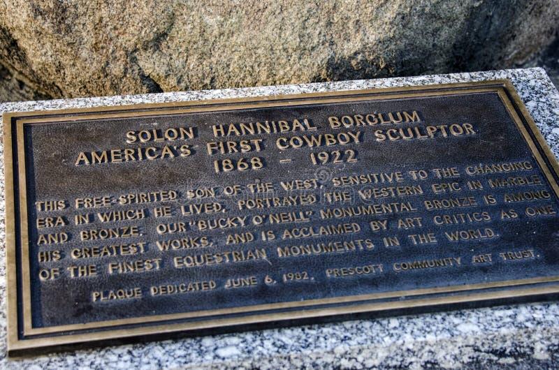 Prescott Аризона Scultor ковбоя Hannibal Borglum солона стоковые фото