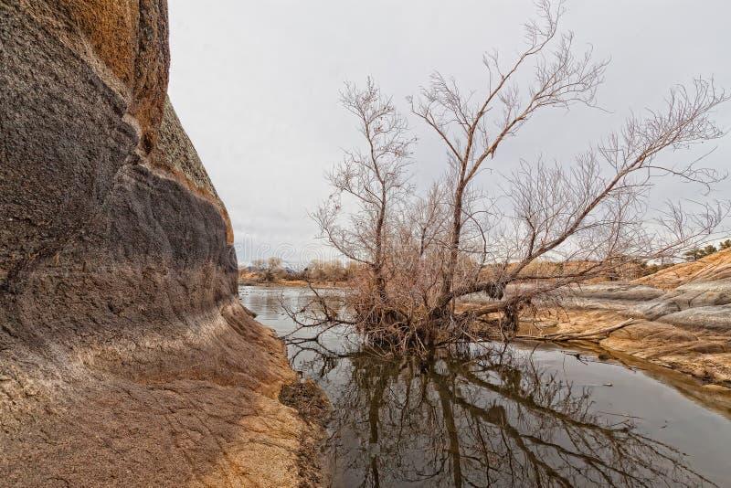 Prescott, AZ-Granite Dells. This image was captured on Willow Lake in the Granite Dells, Prescott, AZ royalty free stock image