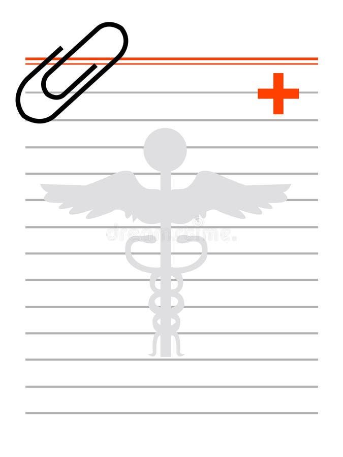 Prescrição ilustração stock