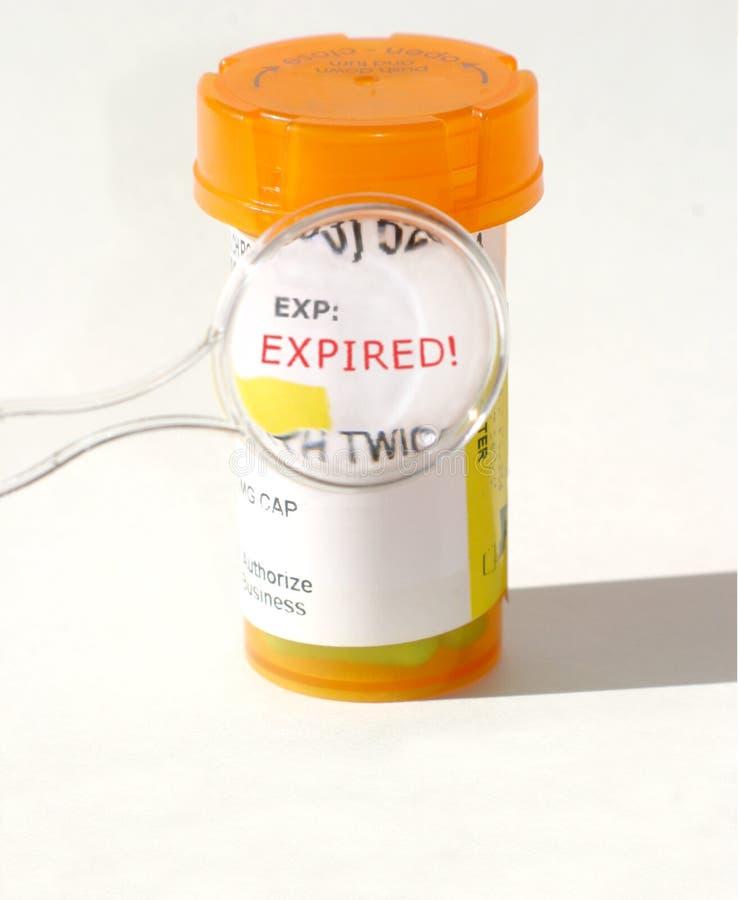 Prescrição expirada fotografia de stock