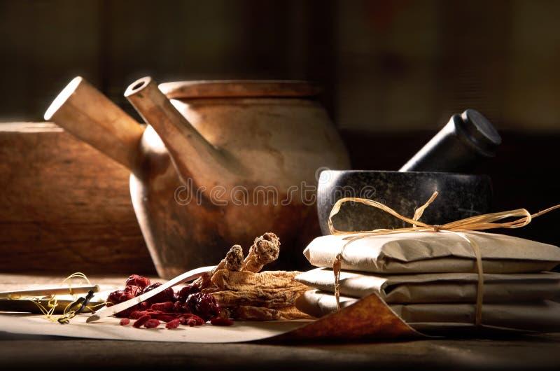 Prescripción de la medicina china fotos de archivo