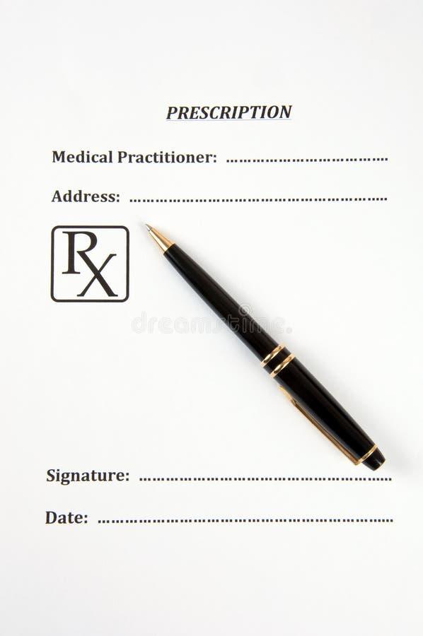 Prescription. photo libre de droits