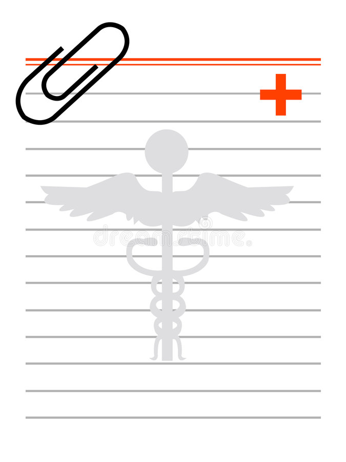 Prescription illustration stock