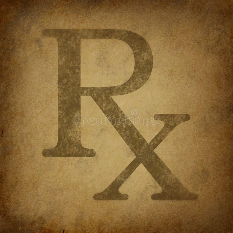 Prescription with grunge vintage texture royalty free illustration