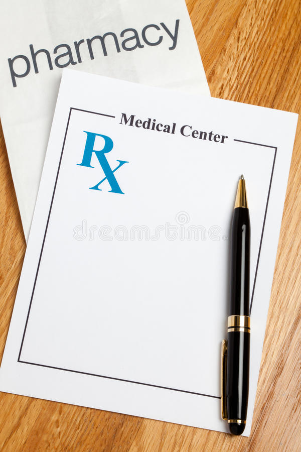 Prescription Medicine. Blank Prescription, concept for Healthcare And Medicine stock images
