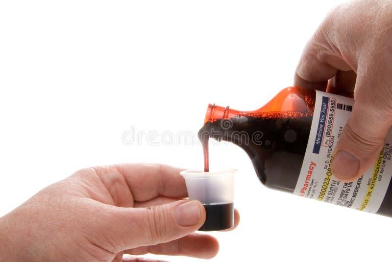 prescription pleuvante à torrents de médecine photographie stock