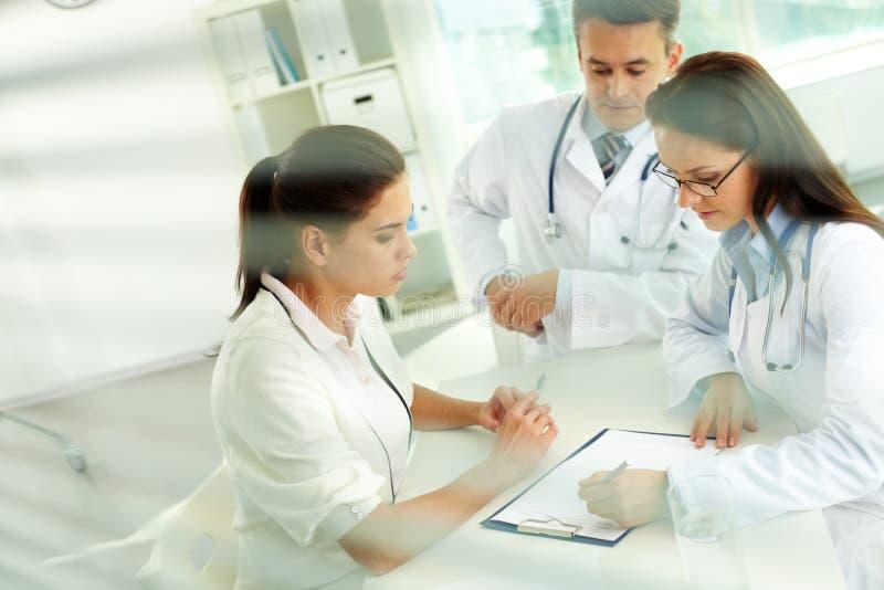 Prescriptions médicales images libres de droits