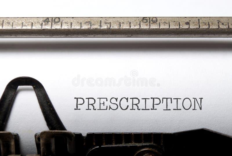 Prescrizione medica fotografia stock