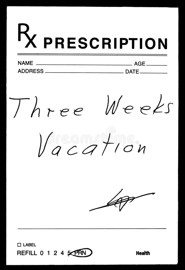 Prescrizione medica fotografia stock libera da diritti