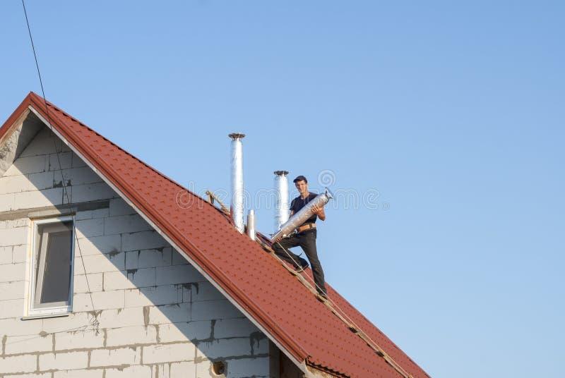 Prese d'aria sul tetto immagini stock libere da diritti