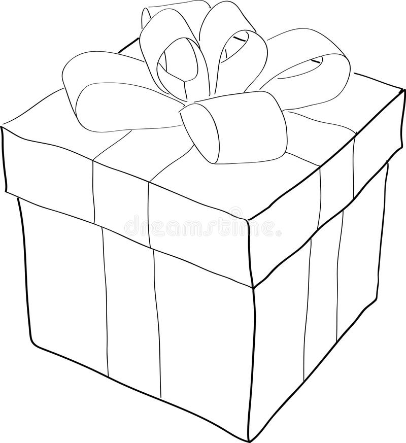 Present. Outlined illustration of a present stock illustration