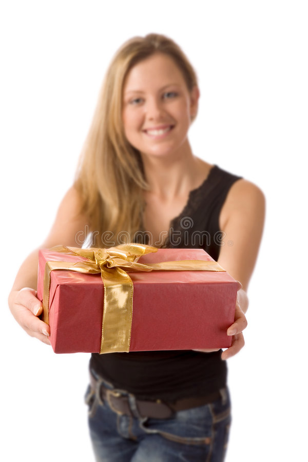 Download The present stock photo. Image of lady, blond, beautiful - 2493190