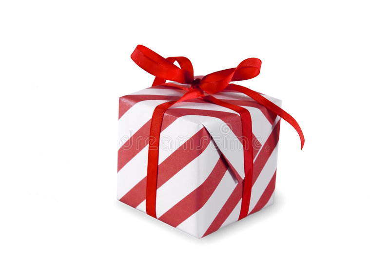 Present. (gift, giveaway) on white background royalty free stock photos