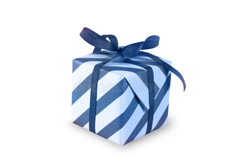 Present. (gift, giveaway) on white background stock photos