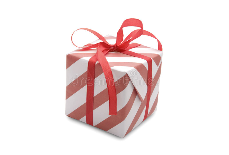 Present. (gift, giveaway) on white background royalty free stock image