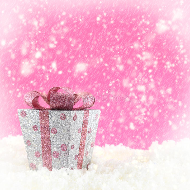 Download Present box with snow stock photo. Image of commercial - 35406406