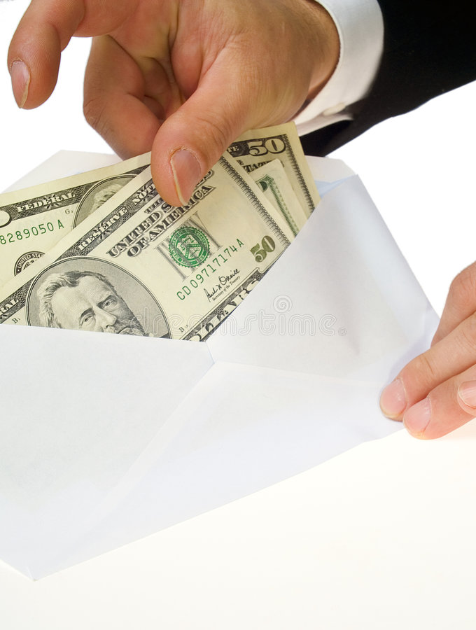 Present or bribe ? stock images