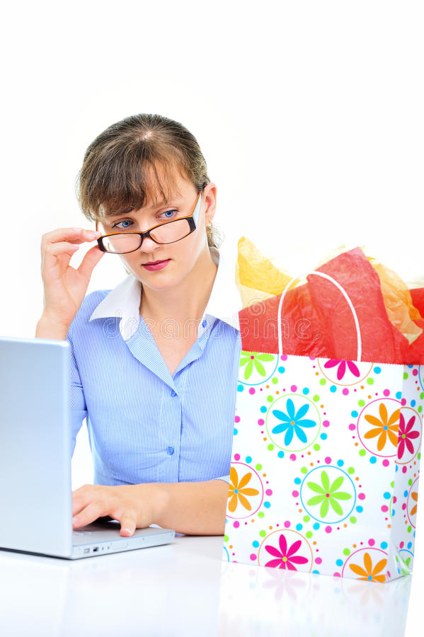 Download Present for businesswoman stock image. Image of beautiful - 15019577