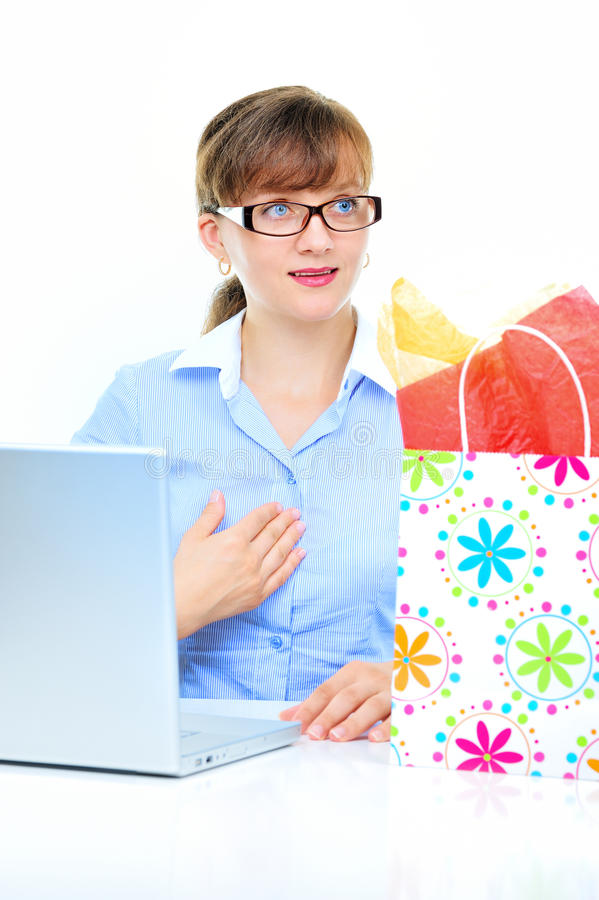 Present For Businesswoman Stock Photography