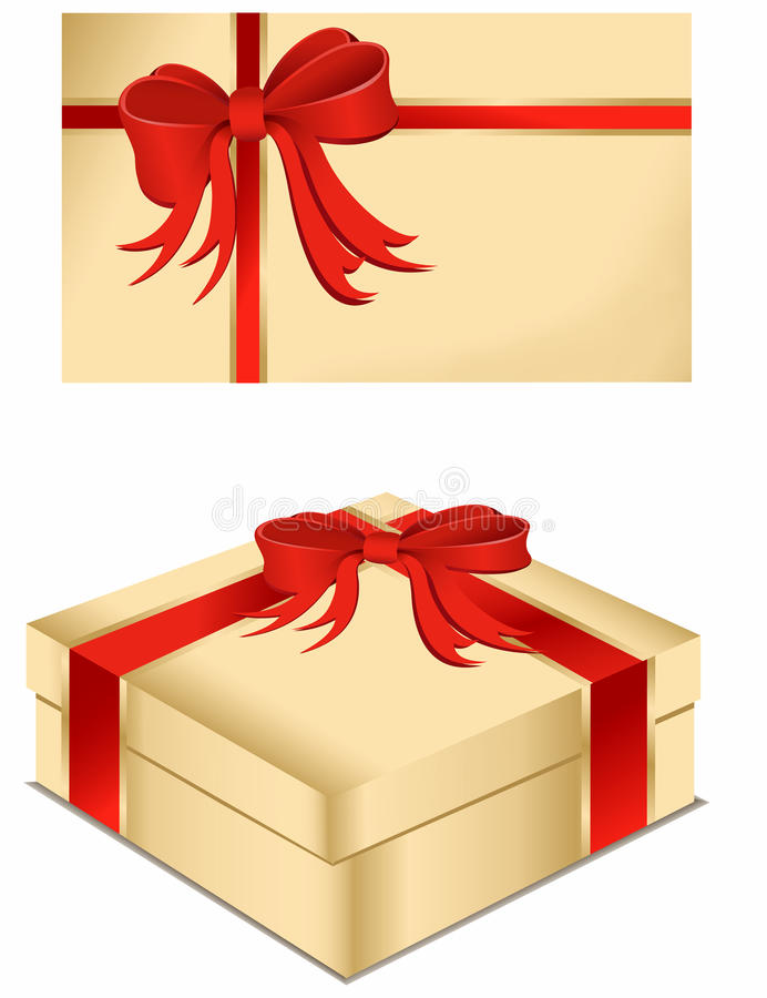 present för askkortgåva stock illustrationer