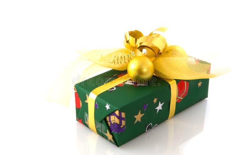 present för julguldgreen arkivbilder