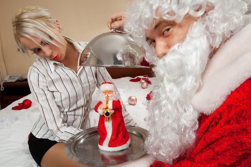 Present för Santa Claus `s arkivbild