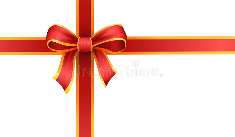 Present and gift ribbon, bow or loop vector illustration