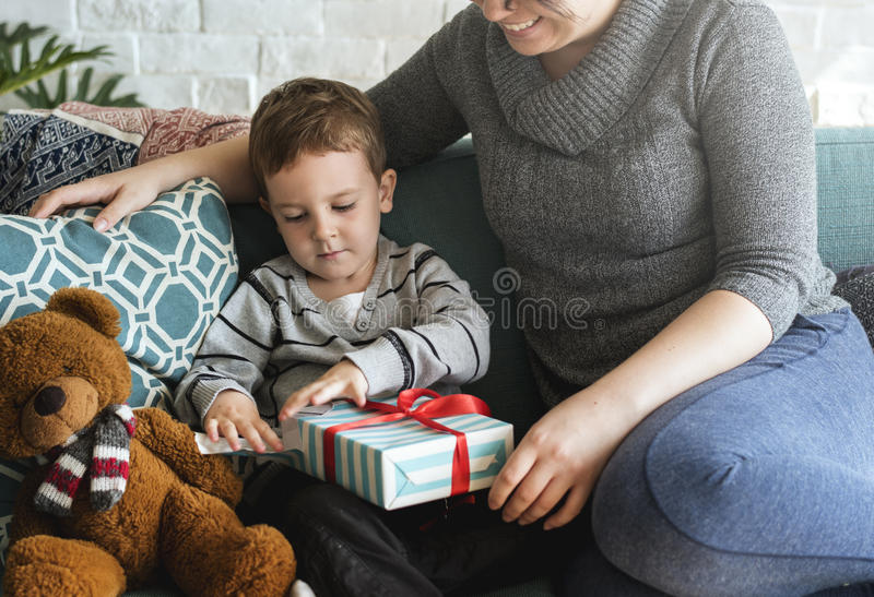 Present Gift Surprised Happiness Quality Time stock photography