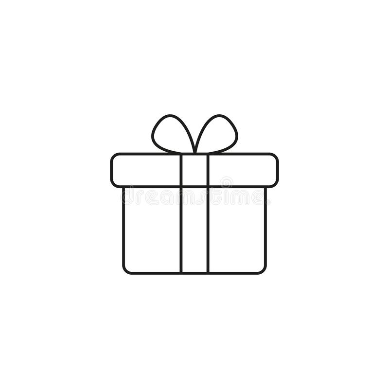 Present gifts icon. On the white background royalty free illustration