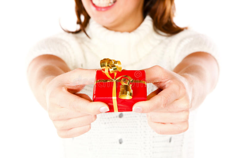 Download Present Giving Girl stock photo. Image of hand, human - 11628634