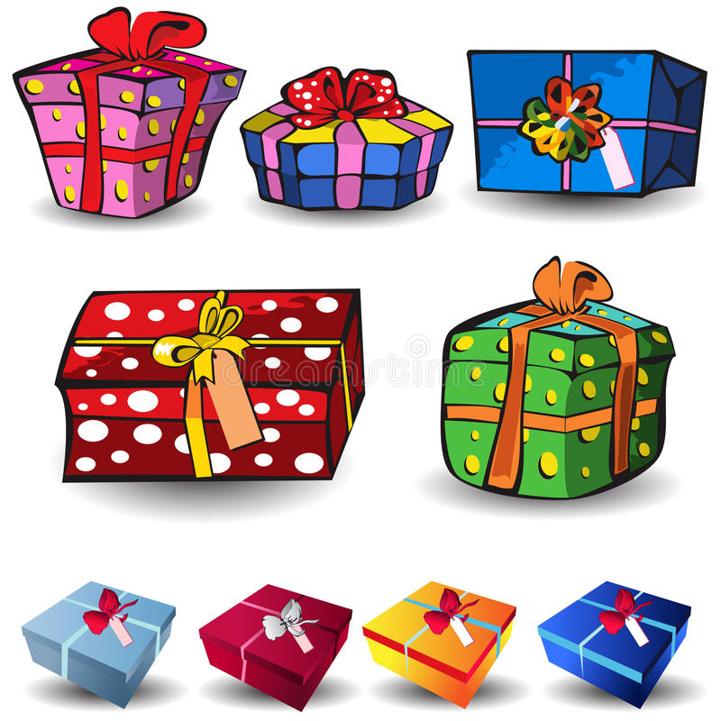 Download Present icons stock vector. Image of cute, cardboard - 11131380