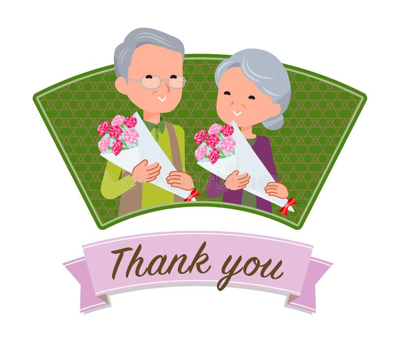 Present for loved ones_Aged`s Day icon stock illustration