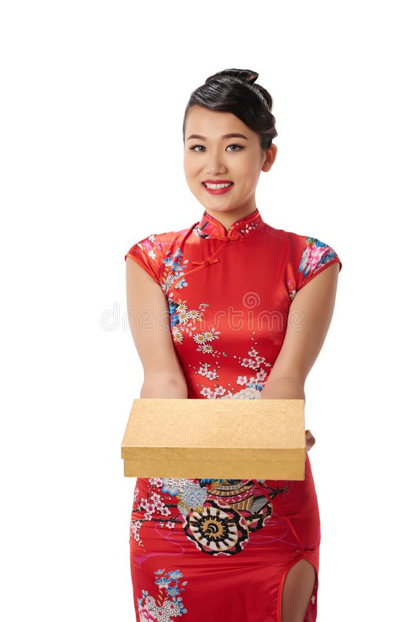 Present for lunar New Year royalty free stock images
