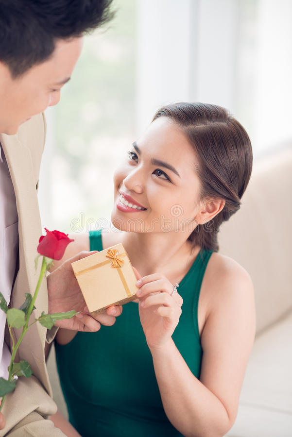 Download Present stock image. Image of girlfriend, elegant, gift - 41086965