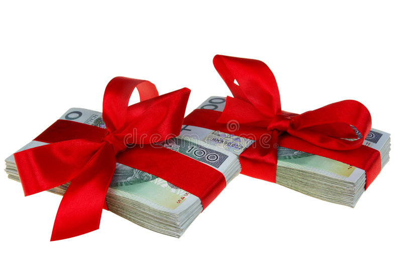 Download Present polish money stock photo. Image of isolated, present - 8733652
